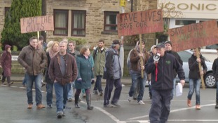 Protest held to re-open Haworth fire station