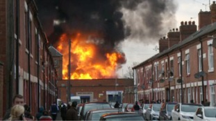The blaze was one of the biggest in Leicestershire in recent years