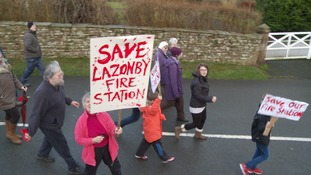Lazonby protests against fire station cuts