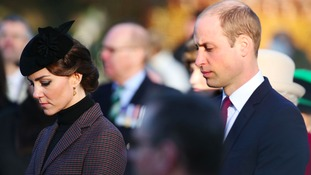 The Duke and Duchess of Cambridge at the ceremony