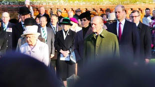 The royals at the Gallipoli commemoration in Sandringham