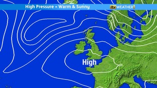 High pressure is building as we move towards the weekend
