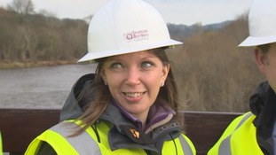 Environment Minister, Dr Aileen McLeod MSP on visit to Selkirk