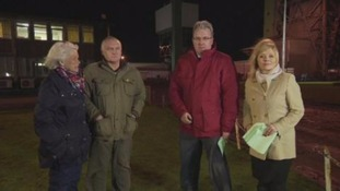 ITV Calendar on location reporting on the closure of Kellingley Colliery last month