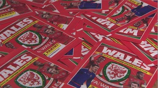 How many have you got? Fans collect Wales football stickers for the first time
