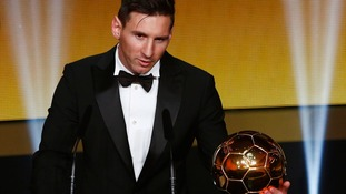 Lionel Messi wins Fifa's Ballon d'Or for record fifth time
