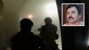 Dramatic footage of raid which recaptured notorious Mexican drug lord El Chapo released
