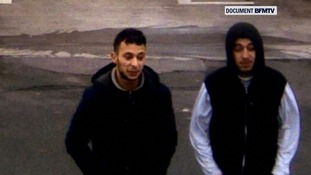 CCTV pictures are thought to show Salah Abdeslam.