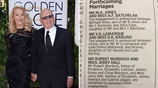 Rupert Murdoch and Jerry Hall to marry
