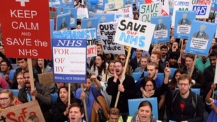 Thousands of junior doctors walk out across the region