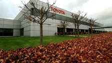 Toyota's Burnaston Plant in Derbyshire