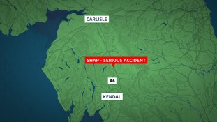 The accident happened at Shap.