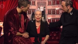 Angie was comforted by housemates John Partridge and David Gest