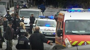 Scene of the Toulouse shooting