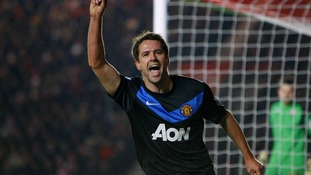 Michael Owen in action for Manchester United last season.