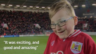 Oskar Pycroft walks out at Ashton Gate to huge applause