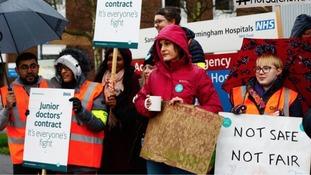 Doctors strike at Sandwell Hospital