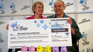 Lotto-winning couple may help flood victims following £33 million jackpot