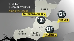 Seaside unemployment figures