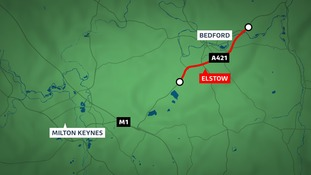 Two people have been killed and four injured in a crash on the A421 Bedford bypass.
