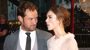 Hollywood stars Jude Law and Keira Knightley hit London's red carpet