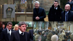 The service included some of Srnicek's favourite songs, Gerry & the Pacemakers' You'll Never Walk Alone and Lifted by the Lighthouse Family.The service included some of Srnicek's favourite songs, Gerry & the Pacemakers' You'll Never Walk Alone and Lifted by the Lighthouse Family.