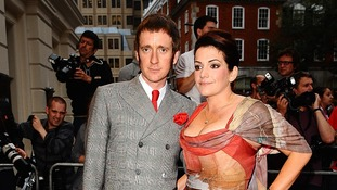 Bradley Wiggins and wife Catherine at the 2012 GQ Men Of The Year Awards at the Royal Opera House, Bow Street in London.