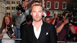 Pop Star Ronan Keating on the red carpet.