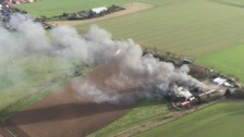 Firefighters in Bedfordshire have been dealing with a major fire at a coach workshop.