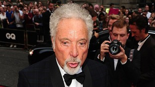 Pop star Sir Tom Jones meets fans at the awards.