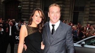 Sir Chris Hoy and wife Sarra Kemp.