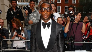 Music star Tinie Tempah poses for the cameras.