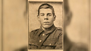 Private Alf Davis was one of the solider who left a message in 1916.