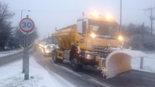 The scene at the A691/A692 roundabout between Iveston & Leadgate