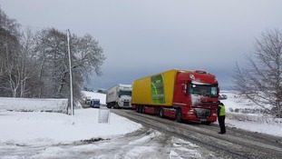 PICTURES: Lorries backed up in Redesdale