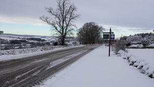 The scene at Redesdale this morning