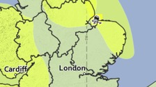 A yellow weather warning has been issued for strong winds in Norfolk and Suffolk.