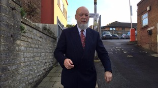 Michael Eavis arriving at Yeovil Magistrates Court