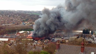 In pictures: Major fire at three-storey mill in Batley