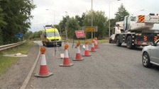 Police were called to the slip road at Junction 4 back in August after the discovery of the remains.