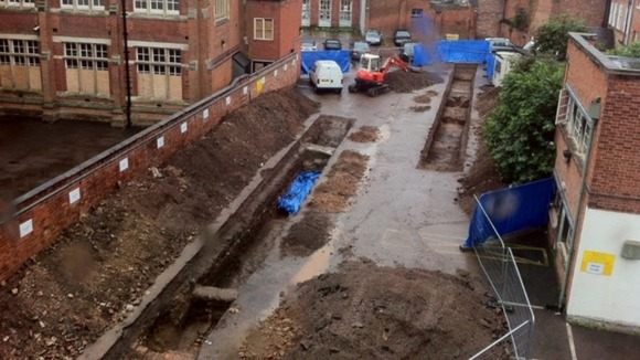 The excavation site in Leicester