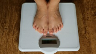 child on scales