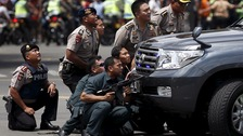 Police tackle assault in Jakarta