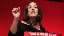Scottish Labour leader Kezia Dugdale during her speech at the Perth Concert Hall