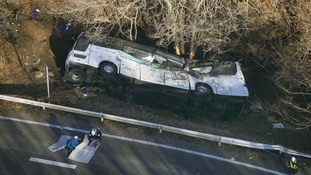 Japanese tour bus falls off mountain leaving more than a dozen dead