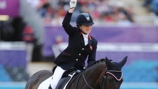 Natasha Baker clinches dressage gold.