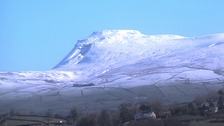 Snow on Ingleborough, Yorkshire Dales Friday morning