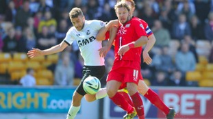 Ben Williamson (left) in action for previous club Port Vale.