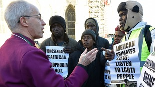 Archbishop of Canterbury apologises for Anglican 'hurt' to LGBTI community