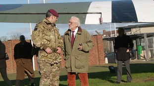 Bernard Cribbins relives his days in the Parachute Regiment in Colchester